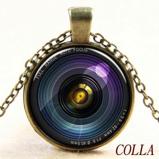 ✻蔻拉時尚✻ [YN015] 原創時光寶石___復古單眼相機鏡頭造型項鏈/復古銅.時尚銀(兩款)
