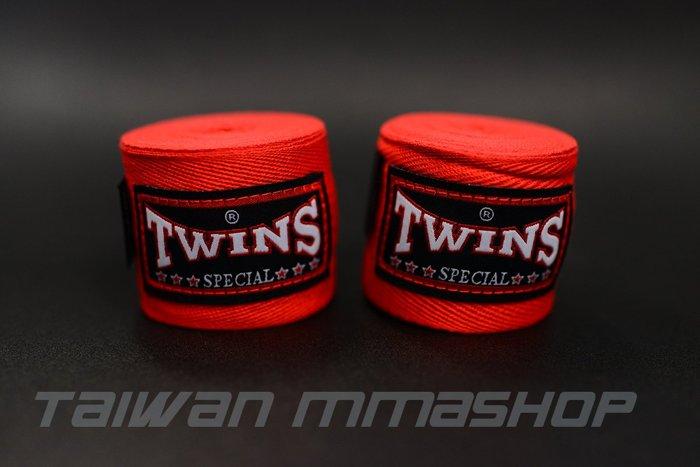 TWINS MMA泰拳拳擊手綁帶~combat手綁帶~5米無彈性-法拉利紅