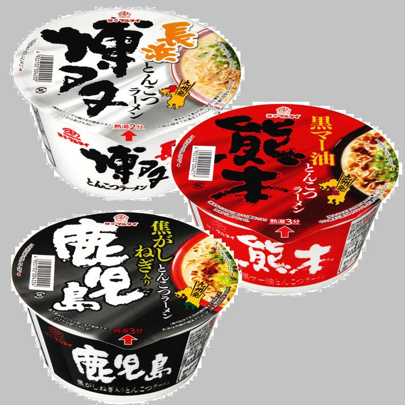 有樂町進口食品 日本進口 丸太製麵 博多/鹿兒島/熊本 豚骨碗麵 4902702004200 0