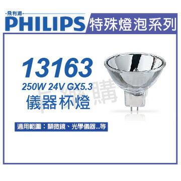 PHILIPS飛利浦 13163 24V 250W GX5.3 ELC 儀器杯燈  PH020019