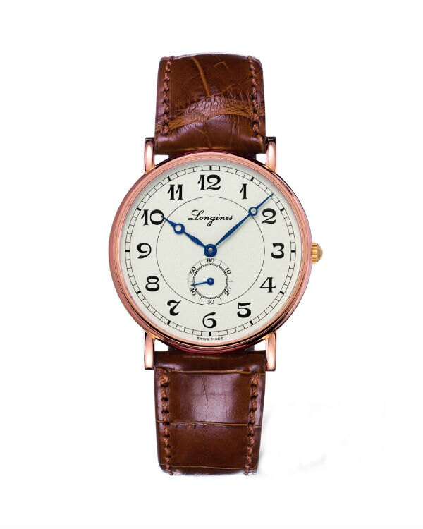 LONGINES L47858732復刻典雅紳士18k金機械女錶/黑面38.5mm