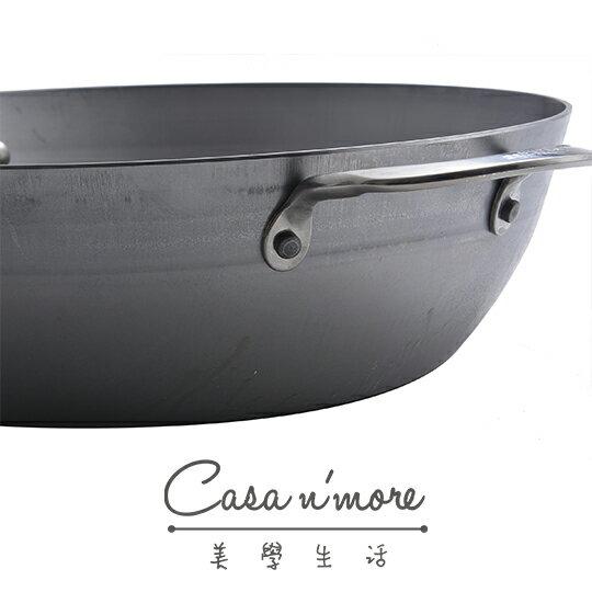 De Buyer 鐵鍋 平底鍋 單柄深炒平底鍋 蜂蠟天然礦系列 32 cm 3