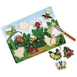 【淘氣寶寶】美國 Melissa&Doug 昆蟲磁鐵益智板