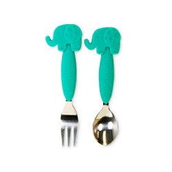 加拿大 MARCUS&MARCUS 動物樂園不鏽鋼叉匙餐具組(大象)