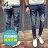 【NQ95006】《買長褲送長褲》潮流前衛骷髏圖騰牛仔長褲☆BOY-2 ☆ 0
