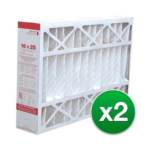 Replacement Pleated Air Filter For Honeywell FC100A1029 AC 16x25x5 MERV 8 (2 Pack) f793574d8ecefde7fe5155a6b79d4fa9