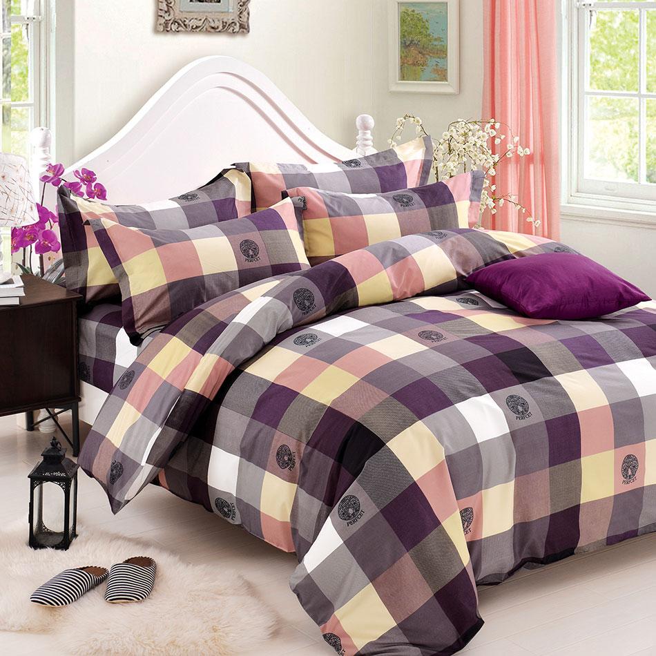 【格紫蛋糕】天鵝絨輕柔棉床包組