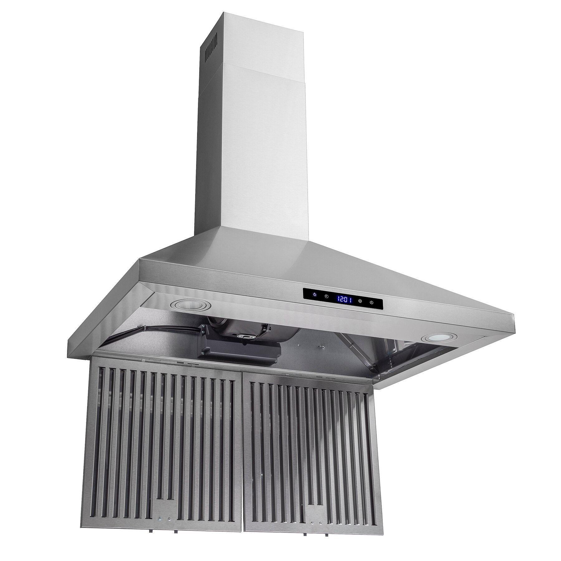 "AKDY 30"" Wall Mount Stainless Steel Touch Control Panel Kitchen Range Hood Cooking Vent 5"