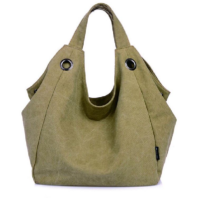 冠軍包款- 厚實帆布側背包 新款純色手提包 女式帆布包 #CA001