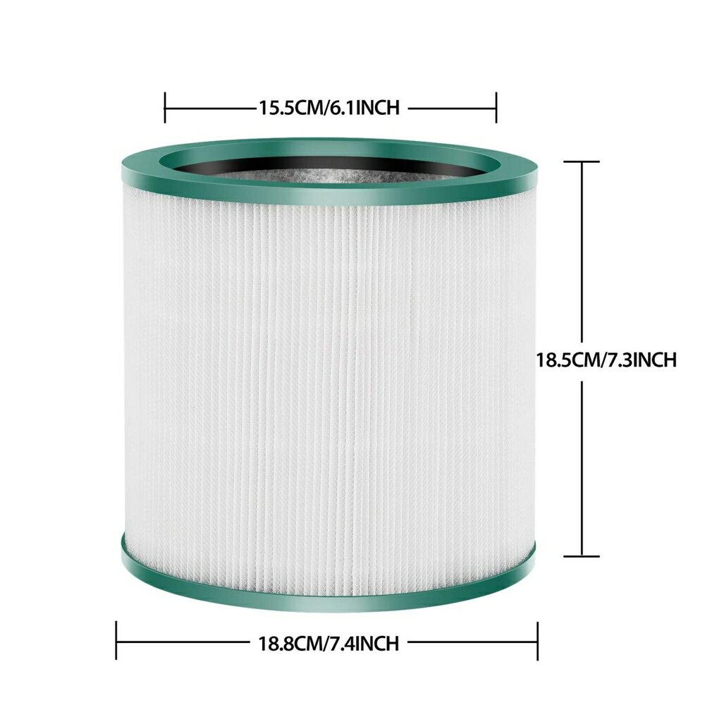 適用Dyson Pure Cool Link TP03 TP02 TP01 TP00 AM11 Pure Cool Me BP01空氣清淨電風扇濾網 濾心耗材 1