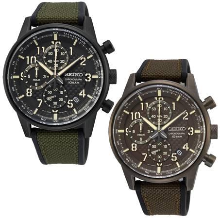 清水鐘錶 SEIKO 精工 8T67-00M0SD SSB373P1 8T67-00M0B SSB371P1 縱橫城市時尚計時手錶 43mm