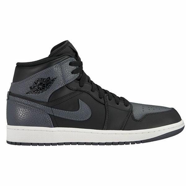 【NIKE】AIR JORDAN 1 MID 运动鞋 篮球鞋 男鞋 黑色 -554724041