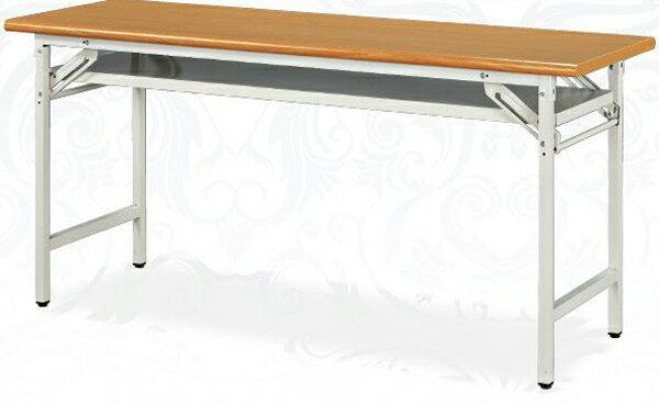 木紋檯面折合式會議桌 45 x 120 公分 2013-B-67-13