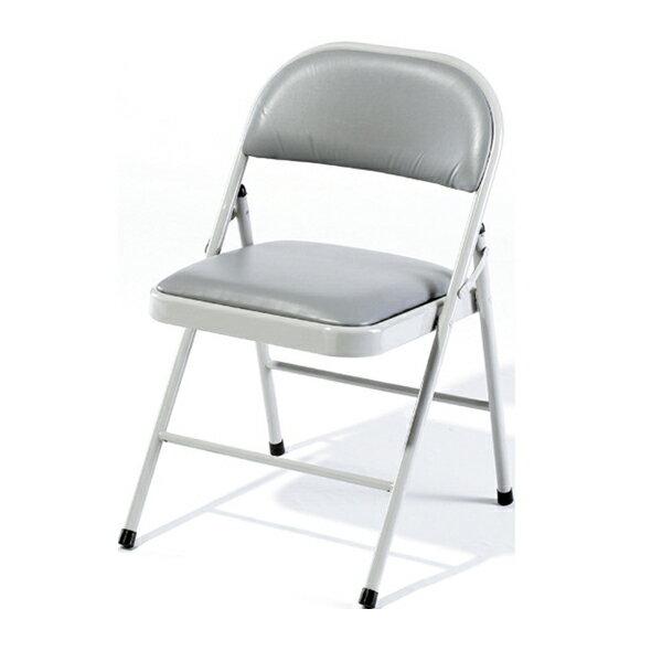 【 IS空間美學】灰色皮合椅 2013-B-191-13