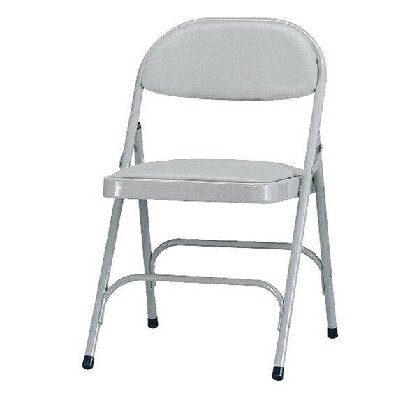 【 IS空間美學】灰色皮合椅(ㄇ腳) 2013-B-191-15