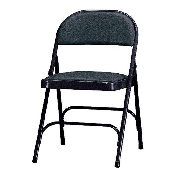 【 IS空間美學】黑色皮合椅(ㄇ腳) 2013-B-191-16