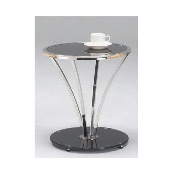 ~IS空間美學~X413洽談圓茶桌^(不鏽鋼 黑玻7mm強化 ^) 2013~B~236~