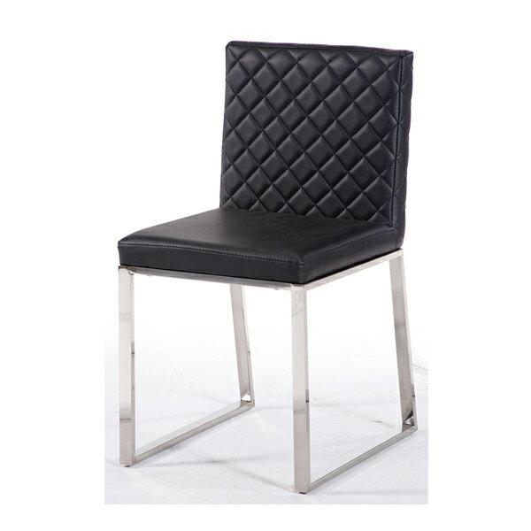 【IS空間美學】法蘭不鏽鋼黑色餐椅 2015-S-444-11