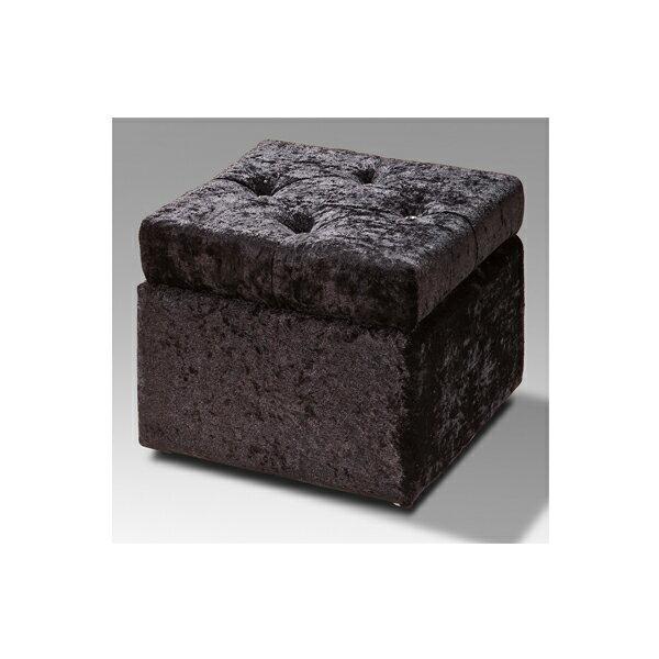 【IS空間美學】晶鑽絨布收納椅(黑) 2015-S-237-7