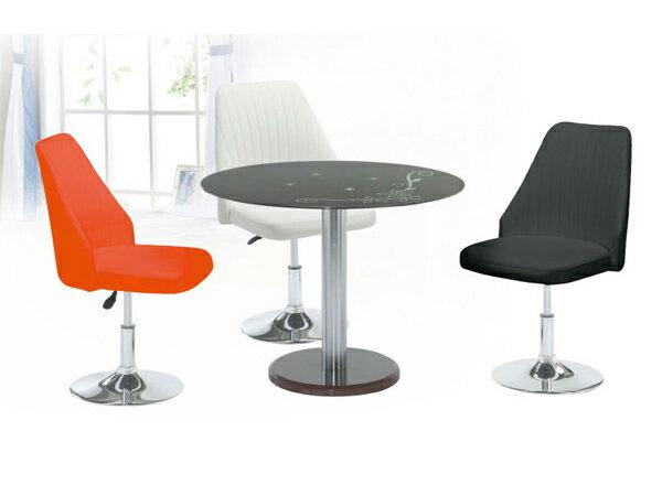 【IS空間美學】《圓桌椅組 》◇一桌三椅◇ 2015-A-307-5
