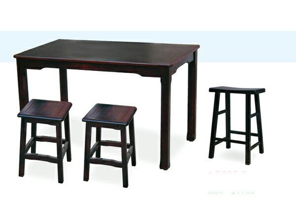 ~IS空間美學~~ 全實木仿古桌椅組~~一桌二椅~ 2015~A~295~5