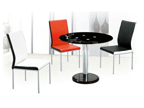【IS空間美學】《圓桌椅組 》◇一桌三椅◇ 2015-A-305-5