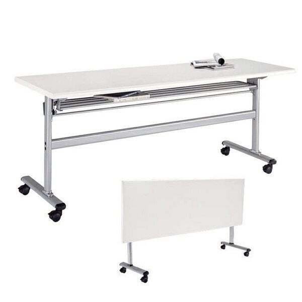 檯面可掀式會議桌 . 無前擋 (木紋) 180 x 60 x 74 公分 2013-B-63-6
