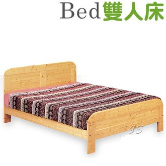 【 IS空間美學 】白松木雙人床