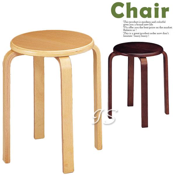 【 IS空間美學 】曲木高圓椅B506