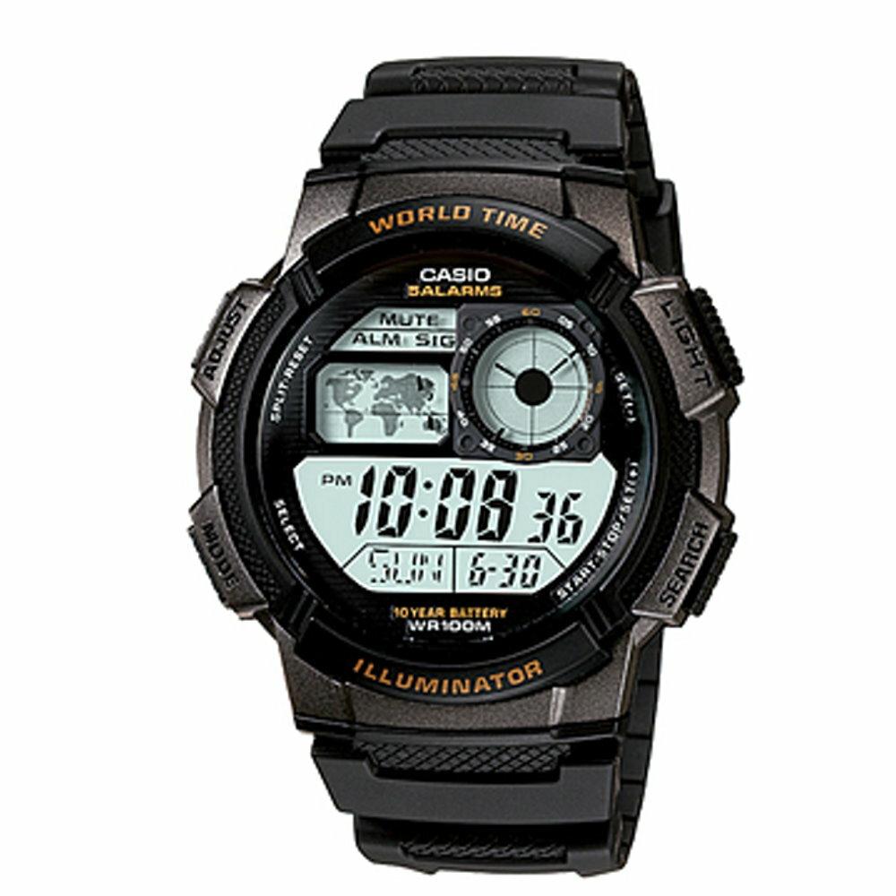 CASIO 10年電力錶款 / AE-1000W-3AVDF - 限時優惠好康折扣
