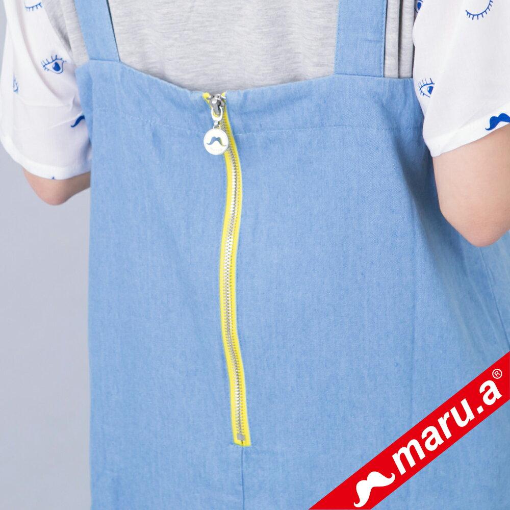 【618購物節】【maru.a】綁帶裝飾魚尾裙襬長洋裝(淺藍) 7