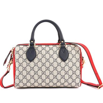 【GUCCI】supreme top handle bag波士頓二用包(三拼色) 409529 KLQIG