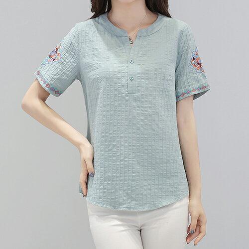 *ORead*棉麻短袖T恤(4色M~5XL) 0