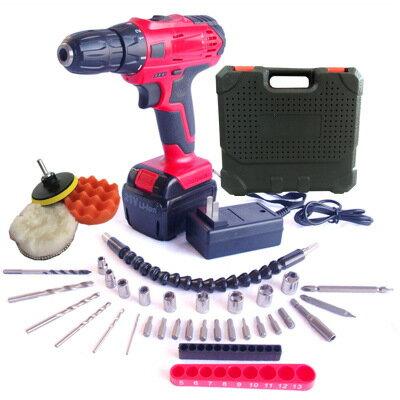 美琪PLESSEY牌12V鋰電充電式手電鑽21V電動螺絲刀起子機充電鑽套裝