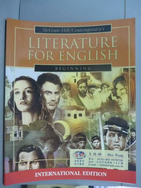 ~書寶 書T7/語言學習_QNZ~Literature for English: Begi