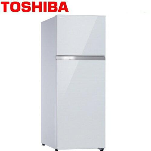 ★贈日式五入碗SP-1716★『TOSHIBA』☆東芝409公升雙門變頻玻璃鏡面冰箱貝殼白GR-AG46TDZ**免運費+拆箱定位+舊機回收**