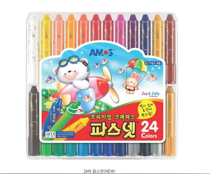 韓國AMOS無毒水蠟筆12色