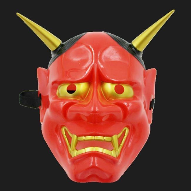 可分拆 日本般若面具(紅色) 鬼首面具 白鬼願凜 般若面具 面具 眼罩/面罩cosplay【塔克】