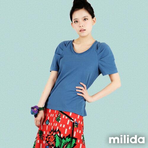 【Milida,全店七折免運】-春夏商品-素色款-公主袖T恤