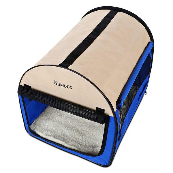 32inch Blue Oxford Portable Folding Pet Dog Soft Carrier Cage Home Crate Case 1