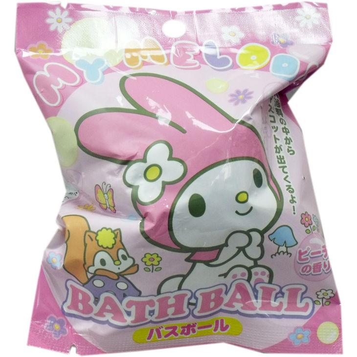 【真愛日本】 17071200001 沐浴球-MM小花泡泡 三麗鷗melody 美樂蒂 泡澡球 公仔 玩具 盥洗用品