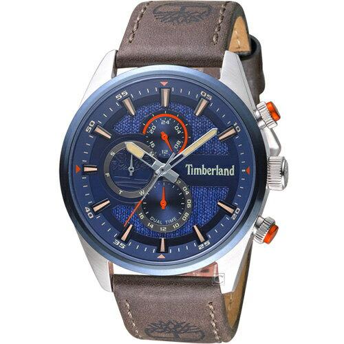 Timberland 天柏嵐 雙時區休閒皮帶錶(TBL.15953JSTBL / 03)46mm 0