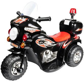 寶貝樂 皇家警察兒童電動摩托車/電動機車-黑色(BTRT991WN)