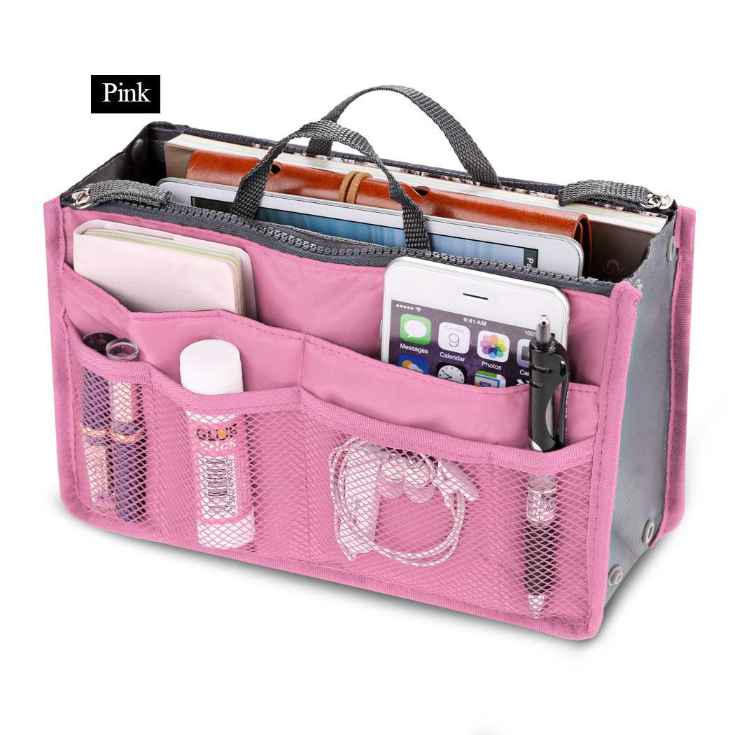 Travel Cosmetic Makeup Insert Pouch Toiletry Handbag Storage Purse 1