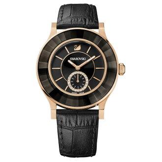 Swarovski 施華洛世奇 Octea Classica 水晶錶圈時尚腕錶/1181762黑面39mm
