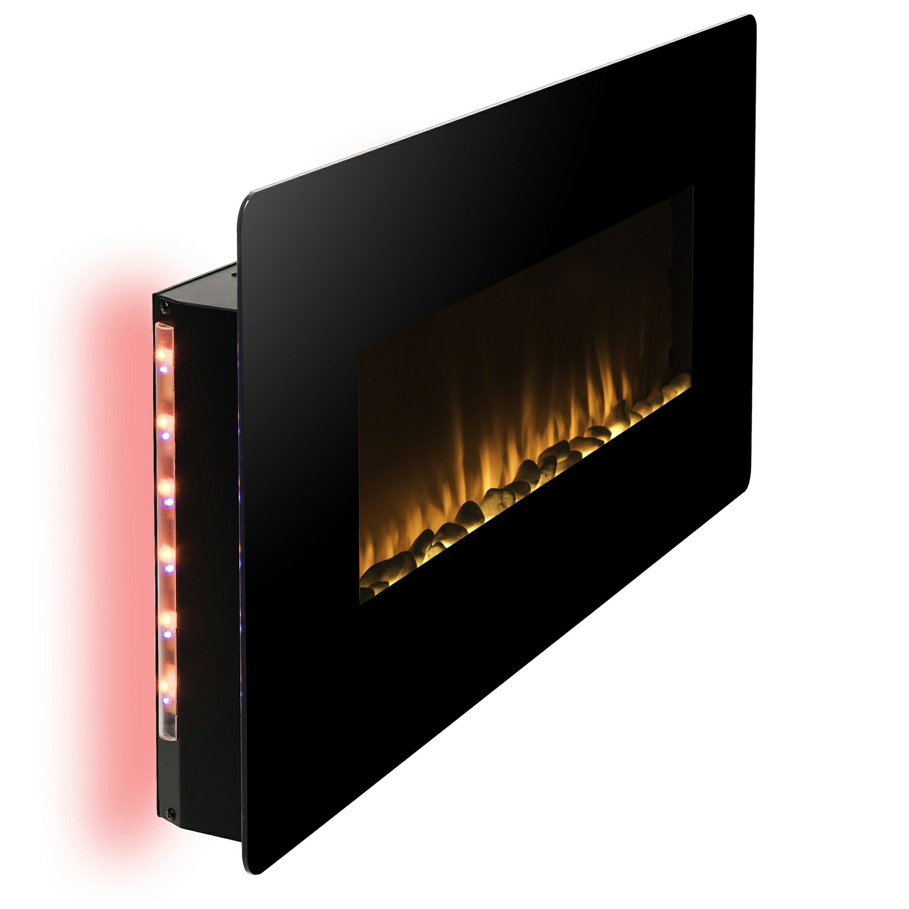 "36"" Freestanding & Wall Mount Convertible Electric Fireplace Stove Heater w/ Remote & Stand 4"