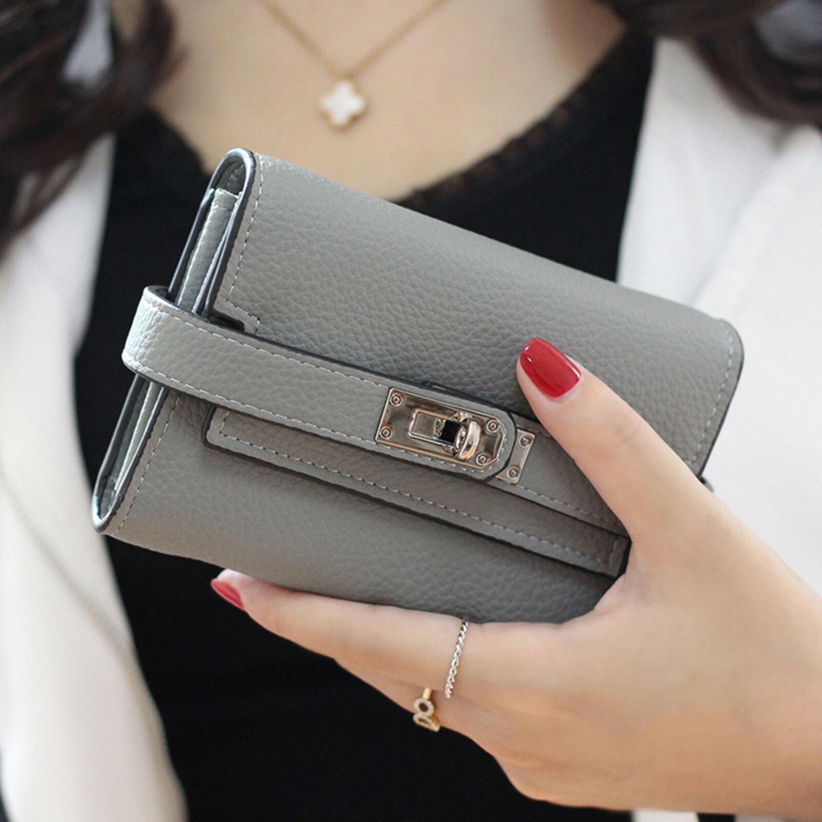 皮夾 錢包 紐扣三層零錢中夾短夾【O3218】☆雙兒網☆ 2