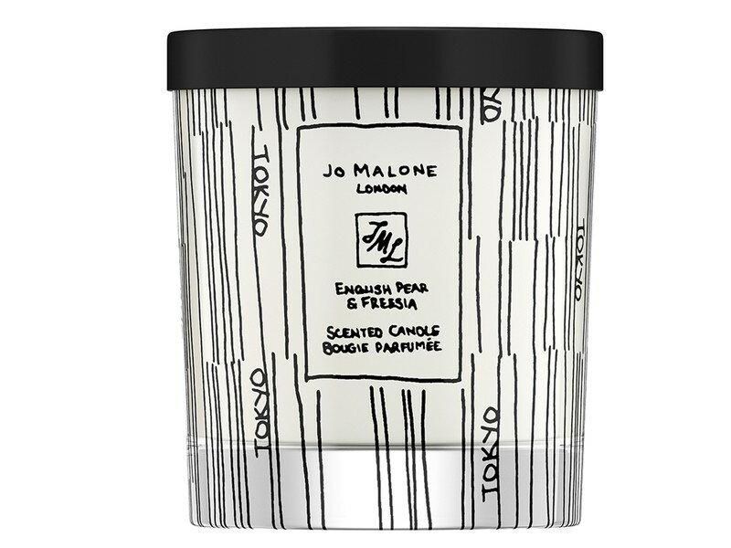 限時優惠【Jo Malone】2019城市限定版包裝 手繪版 東京版英國梨與小蒼蘭 上海版藍風鈴蠟燭 200g居家香氛蠟燭