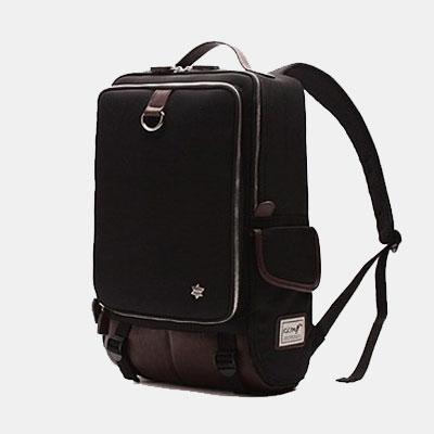 韓國代購 高品質 簡約男性公事14.15吋筆電雙背包 經典包 - 限時優惠好康折扣