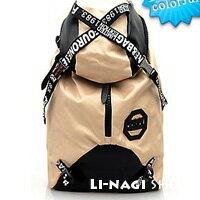里奈子 Li-nagi:LINAGI里奈子。【91190236】輕韓系潮味專櫃品質撞色登山包電腦包雙肩男女可用